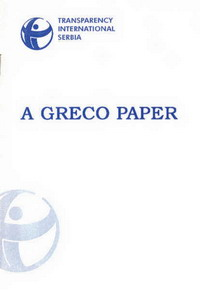 "naslovna strana publikacije ""a greco paper: corruption and anti-corruption policy in serbia"""